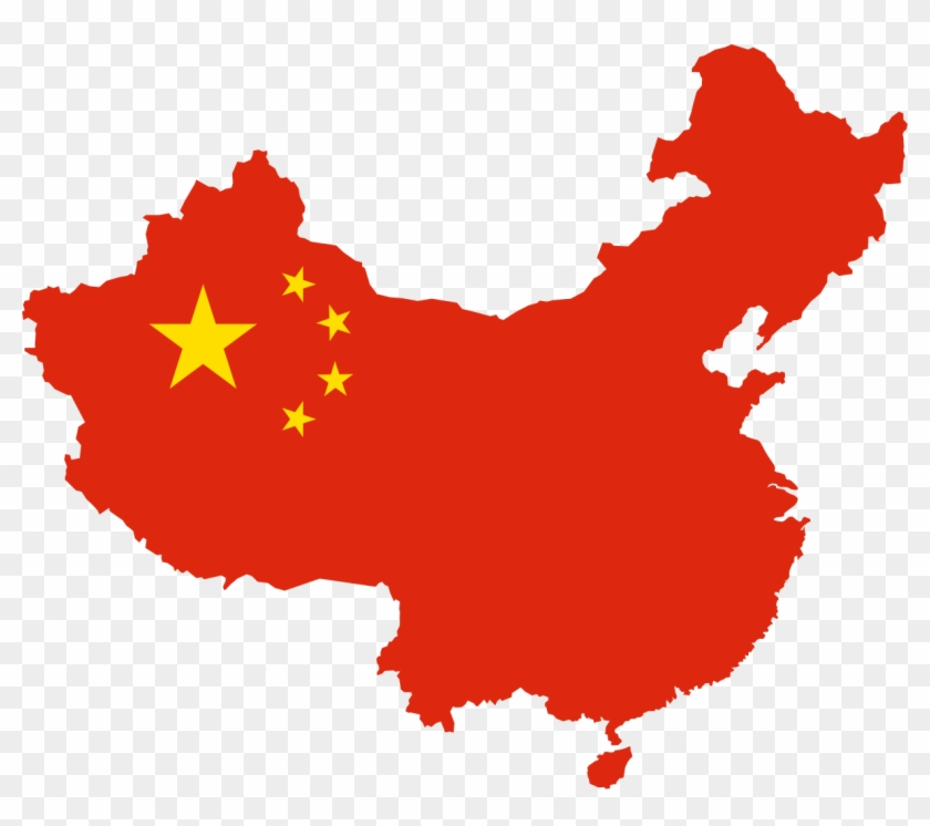 What Is China China Flag Map Png Clipart 635258 Pikpng