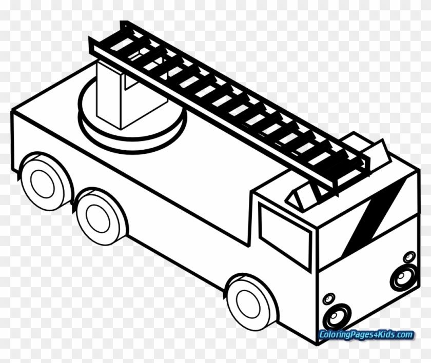 Garbage Truck Printable Coloring Page - Get Coloring Pages | 708x840