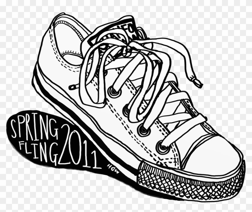 Drawn Converse Sketch - Converse T Shirt Art Clipart #636468