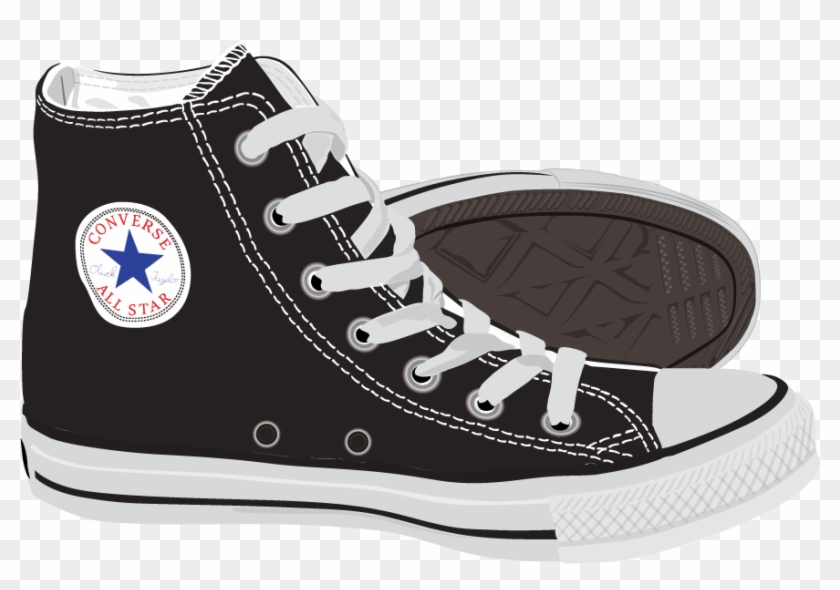 Fashion Shoes Ray-ban Polyvore Converse Painted Vector - Polyvore Converse Clipart #636503
