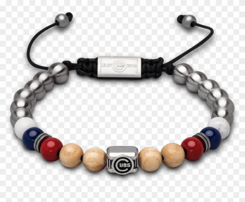 Chicago Cubs™ Square Macrame Bracelet 8mm - Bracelet Clipart #638606