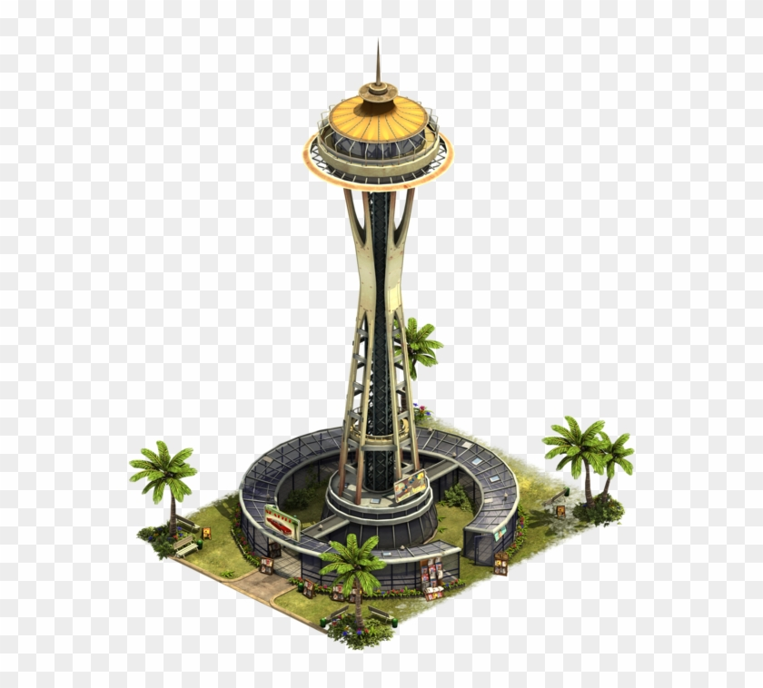 Space Needle Modern Era 9 27426d 65b4ff Ffead5 Https - Space Needle Forge Of Empires Clipart #641437