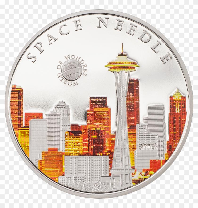 Space Needle - Hamburguesa Para Colorear Clipart #641733