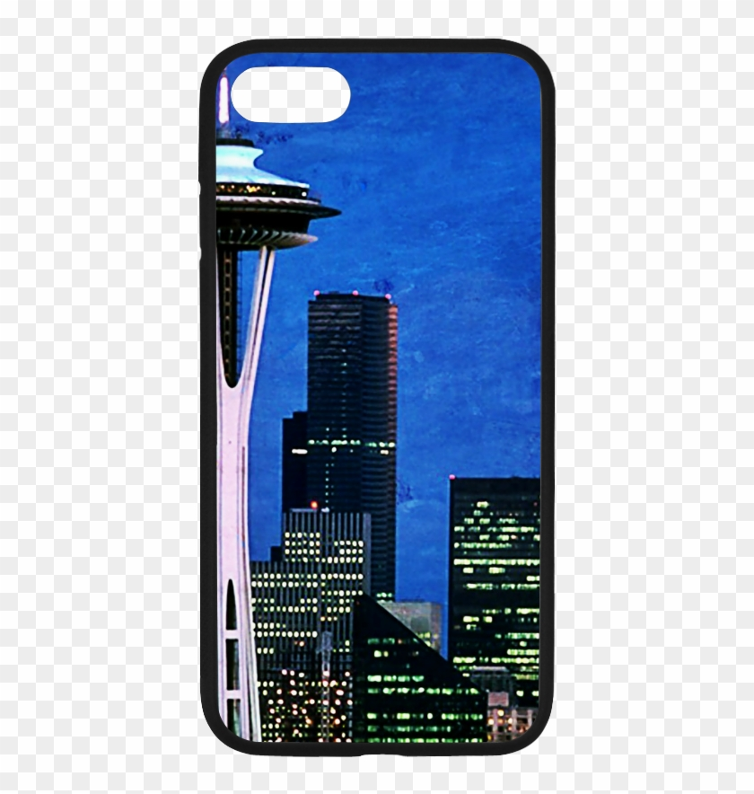Seattle Space Needle Watercolor Rubber Case For Iphone - Mobile Phone Case Clipart #642127