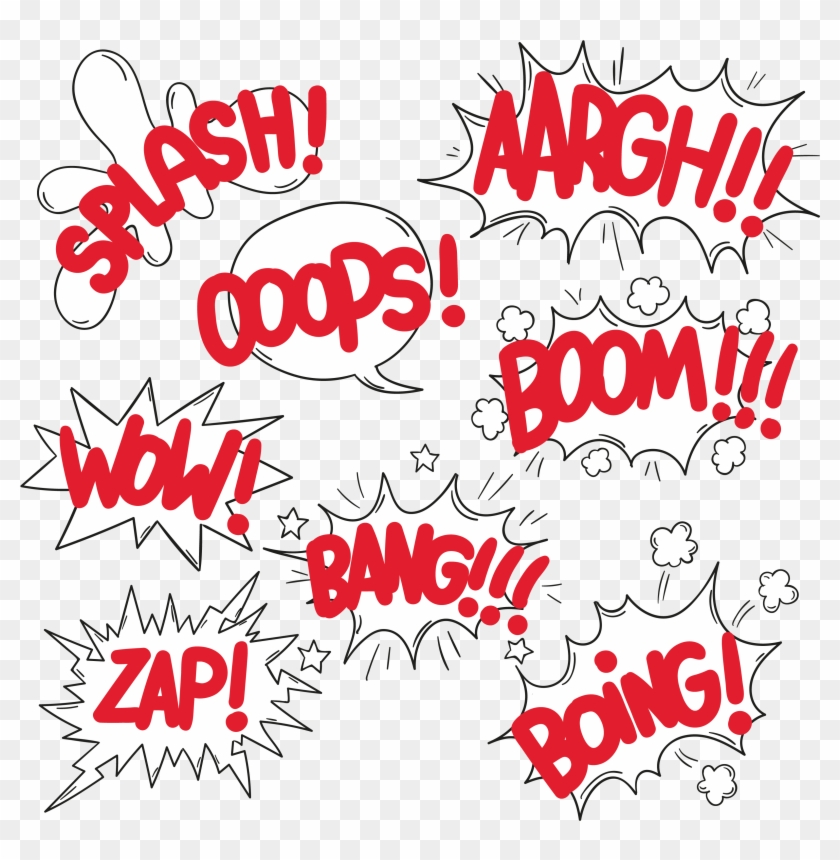 Comic Explosion Cloud Dialog Background Red Ftestickers - Comics Elements Png Clipart #642734