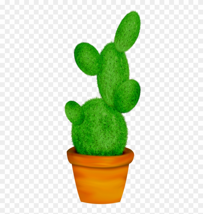 Potted Cactus * Leaf Template, Cacti And Succulents, - Potted Plant Clip Art - Png Download #642958