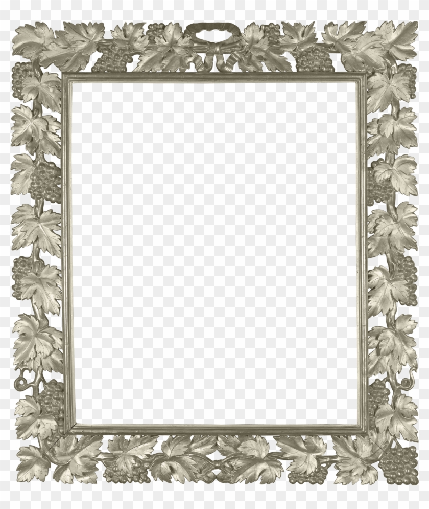 Silver Transparent Png Photo Frame With Vine - Square Gold Border Transparent Clipart #644514
