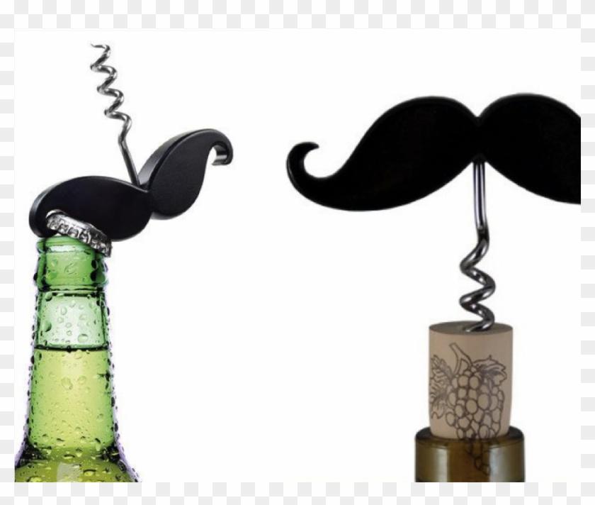 Handlebar Mustache Bottle Opener Corkscrew/wine Corkscrew - Moustache Bottle Opener Clipart #649775