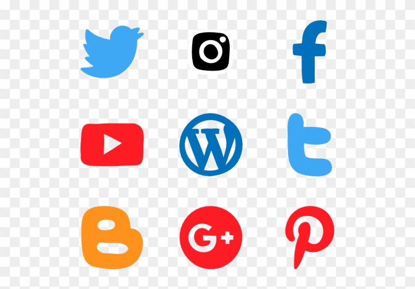 Hand Drawn Social Networks - Graphic Icons For Documentation Clipart #651302