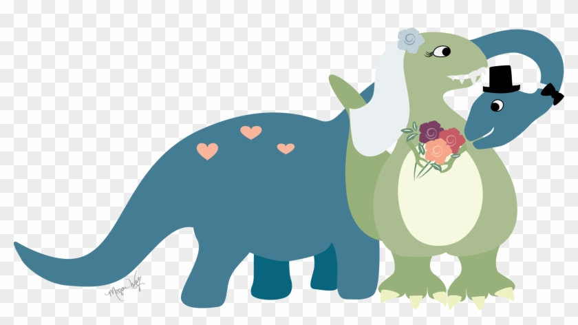 Clipart Royalty Free Download Dinosaurs Clipart Small - Wedding Dinosaurs - Png Download #651794