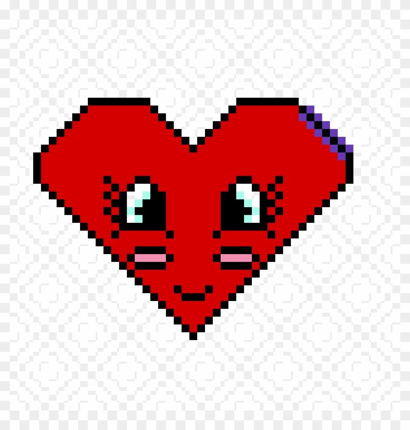 Cute Heart - Easy Emoji Pixel Art Clipart #653499