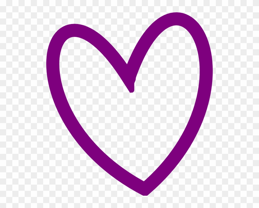 Heart Pictures Clipart Cute - Purple Heart Outline Clipart - Png Download #653588