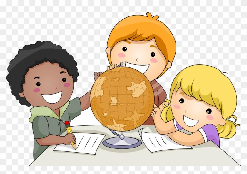 Children Learning Cartoon Png - Children Studying Cartoon Clipart #655549