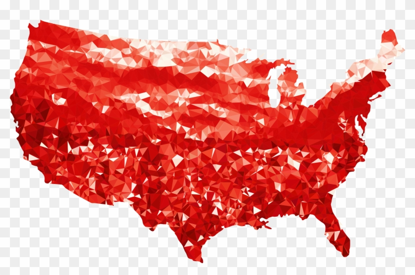 This Free Icons Png Design Of Ruby United States Map Clipart #655585
