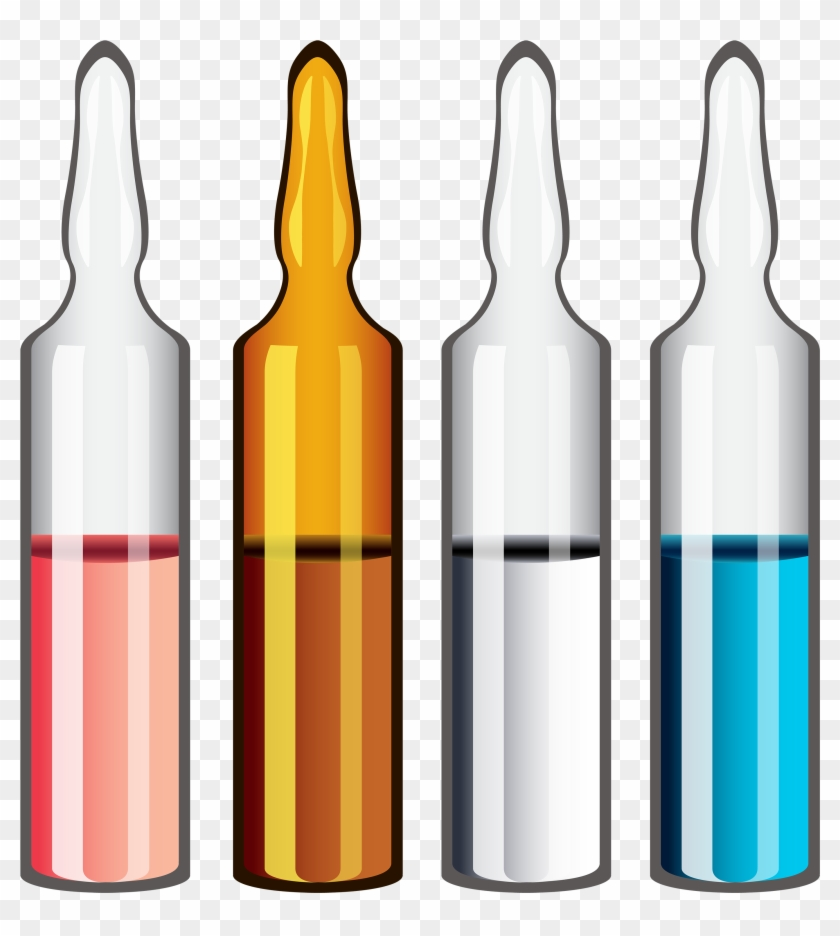 Medical Ampoules Png Clipart - Lança Droga Na Garrafa Transparent Png #657945