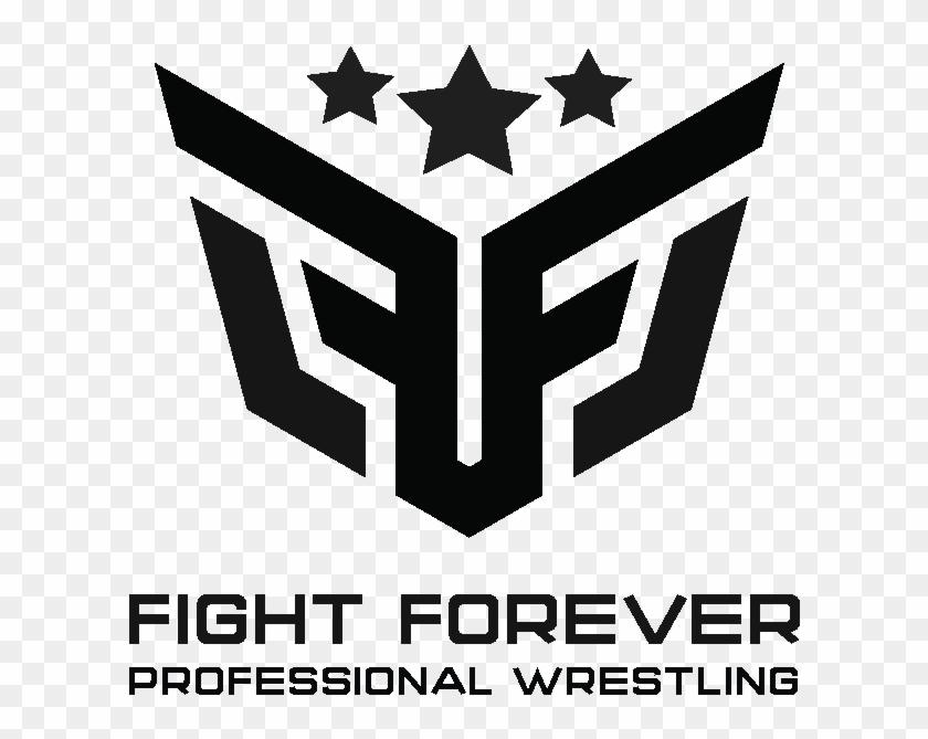 Cropped Fight Forever Logo Black For White Bg 1 - Emblem Clipart #657995