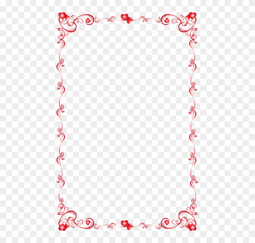 Love Heart Border Png Valentine Border Vector Free Clipart 665295 Pikpng