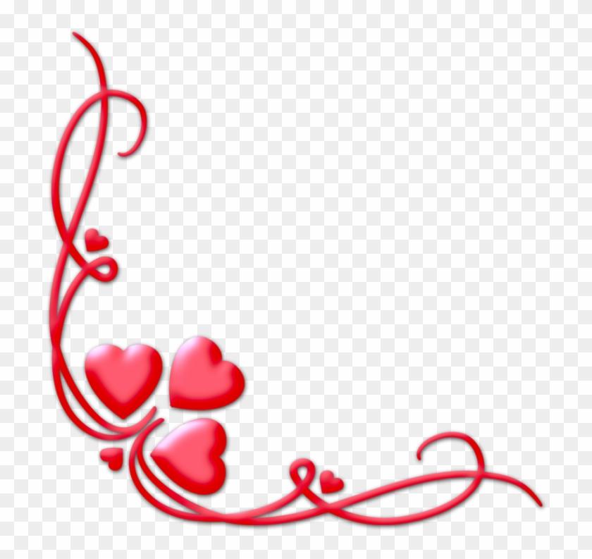 1024 X 768 7 - Heart Corner Border Png Clipart #665617