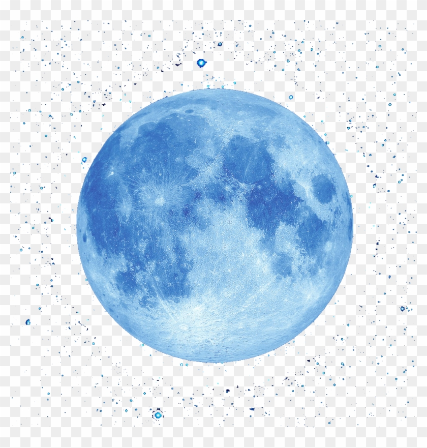 Blue And Full Sky Moon The Clipart - Illustration Full Moon Png Transparent Png #665696