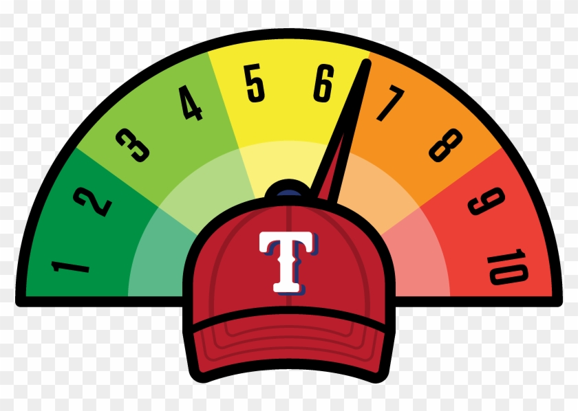 Texas Rangers - 6 Out Of 10 Rating Clipart #670518