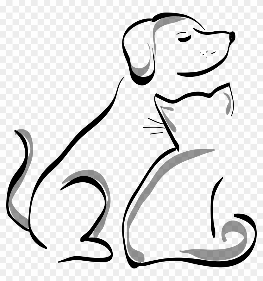 Dog And Cat Silhouette Transparent Background Dog And Cat Clipart Png Download 672202 Pikpng