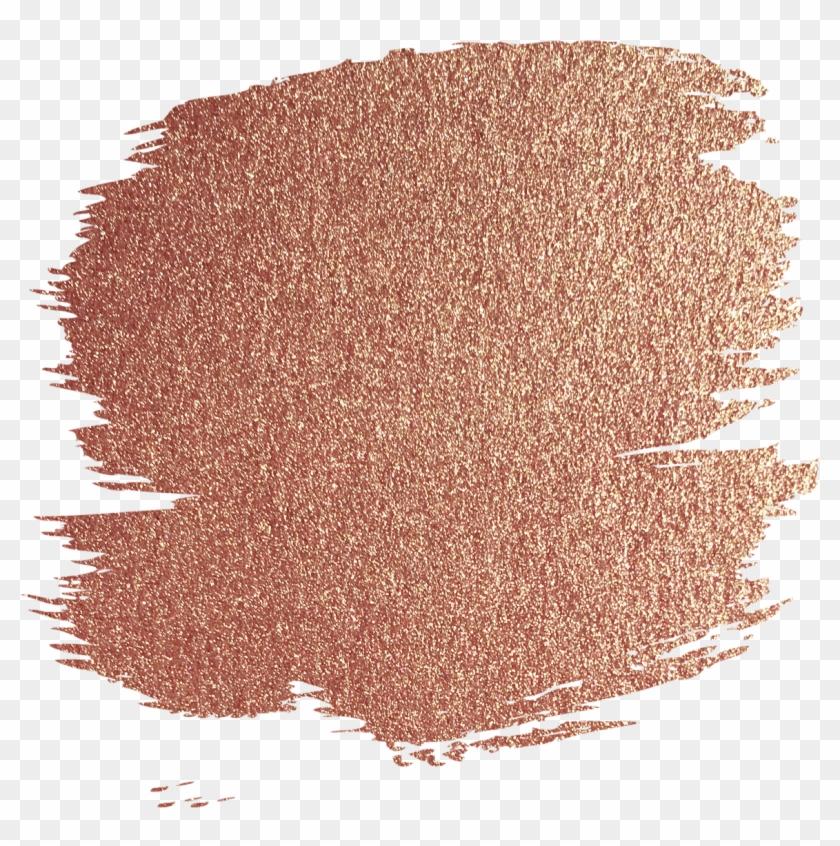 Rosegold Glitter Gold Foil Overlay Brushstroke Ftestick - Rose Gold Glitter Png Clipart #673327