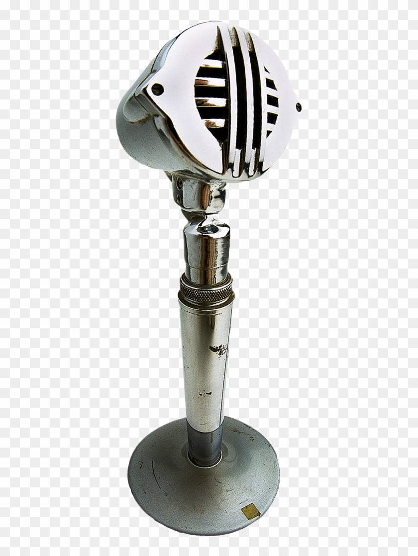 Download Retro Microphone On Stand Png Image - Vintage Microphone Stand Transparent Clipart #680608