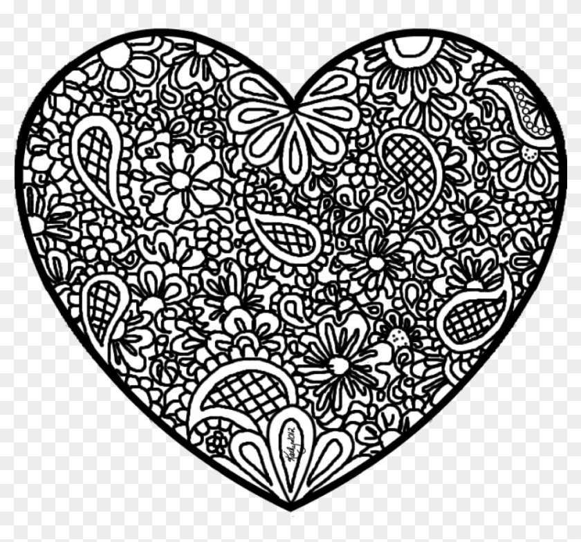 Free Png Download Abstract Heart Coloring Pages Png - Detailed Heart Coloring Pages Clipart #682821