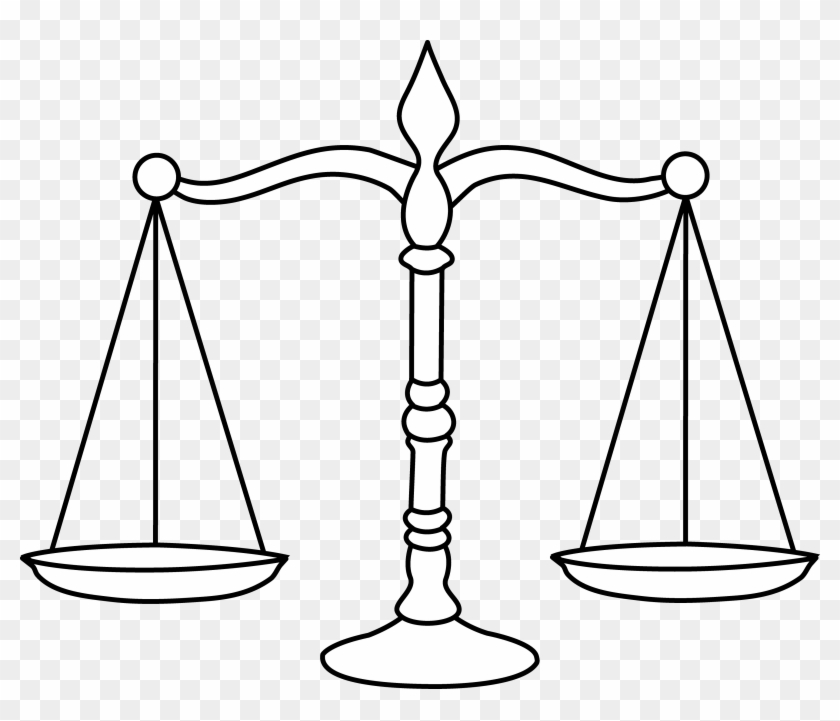 Law Scale Png - Balance Clipart Black And White Transparent Png@pikpng.com
