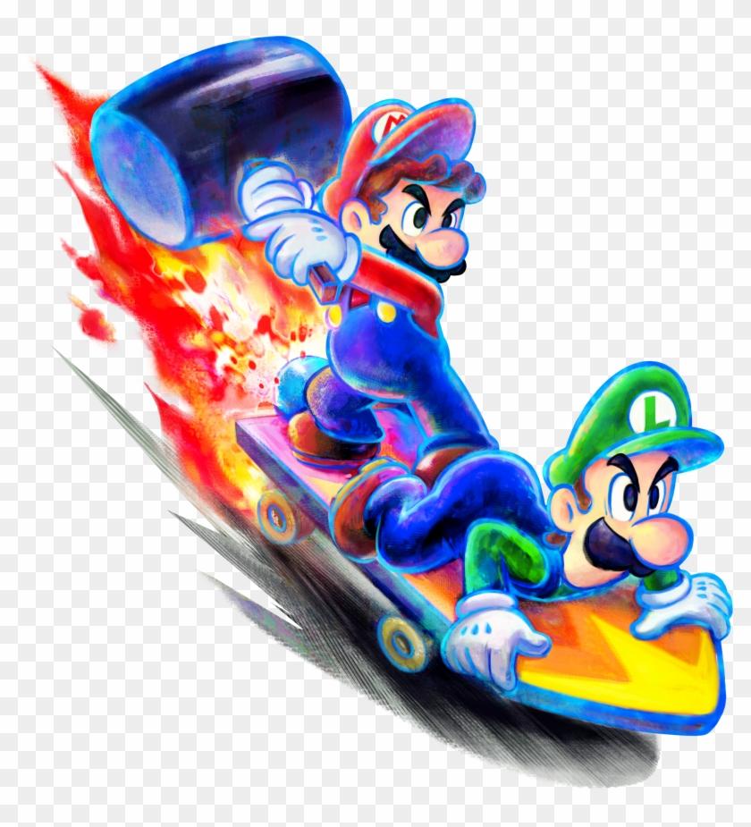 Options Mario Luigi Dream Team Bros Hd Png Download