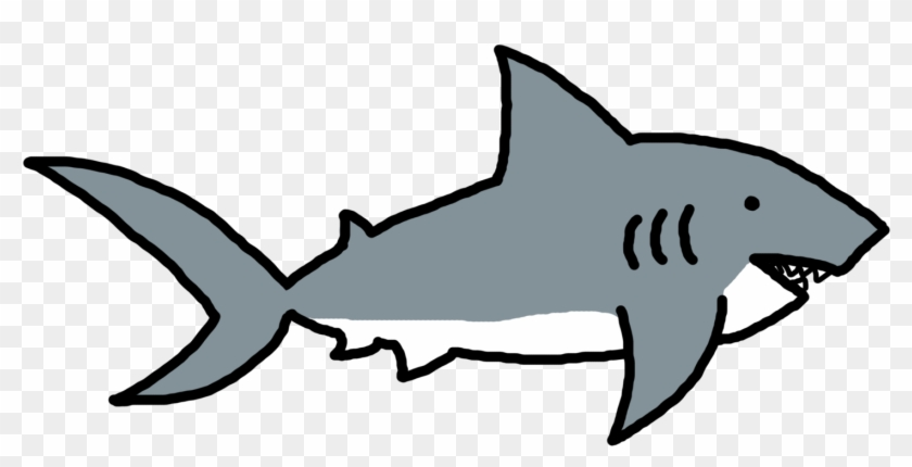 Shark Clip Art Black And White - Png Download #687558