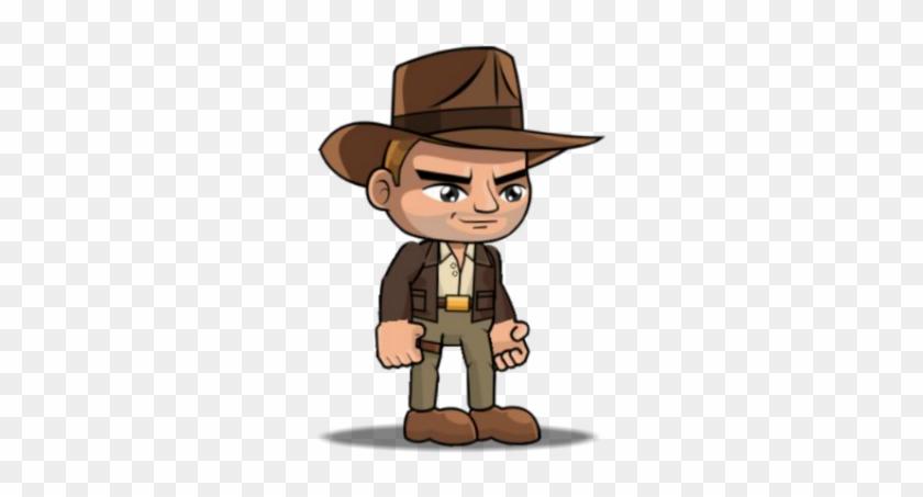 Indiana Jones Clipart Chibi - Indiana Jones Cartoon Png Transparent Png #688053