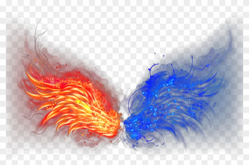 Wings Of Fire Ice - Fire And Ice Png Clipart #689728