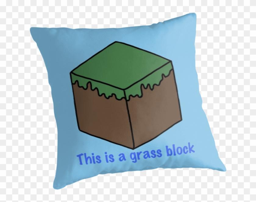 Minecraft Grass Block Design - Cushion Clipart #692927