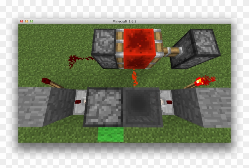 The Thing Next To The Green Wool Is A Dropper/the Input - Minecraft Papercraft Piston Clipart #693197