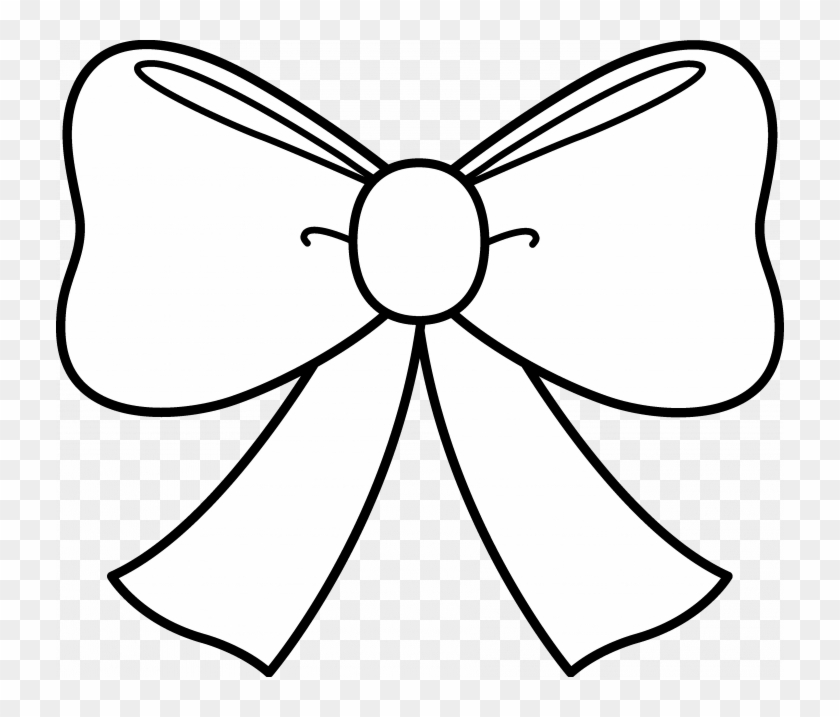 Minnie Mouse Bow Coloring Pages - Jojo Bow Colouring Pages Clipart #693448
