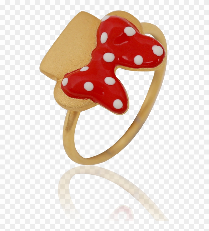 Charming Minnie Mouse Bow Ring - Ring Clipart #694021