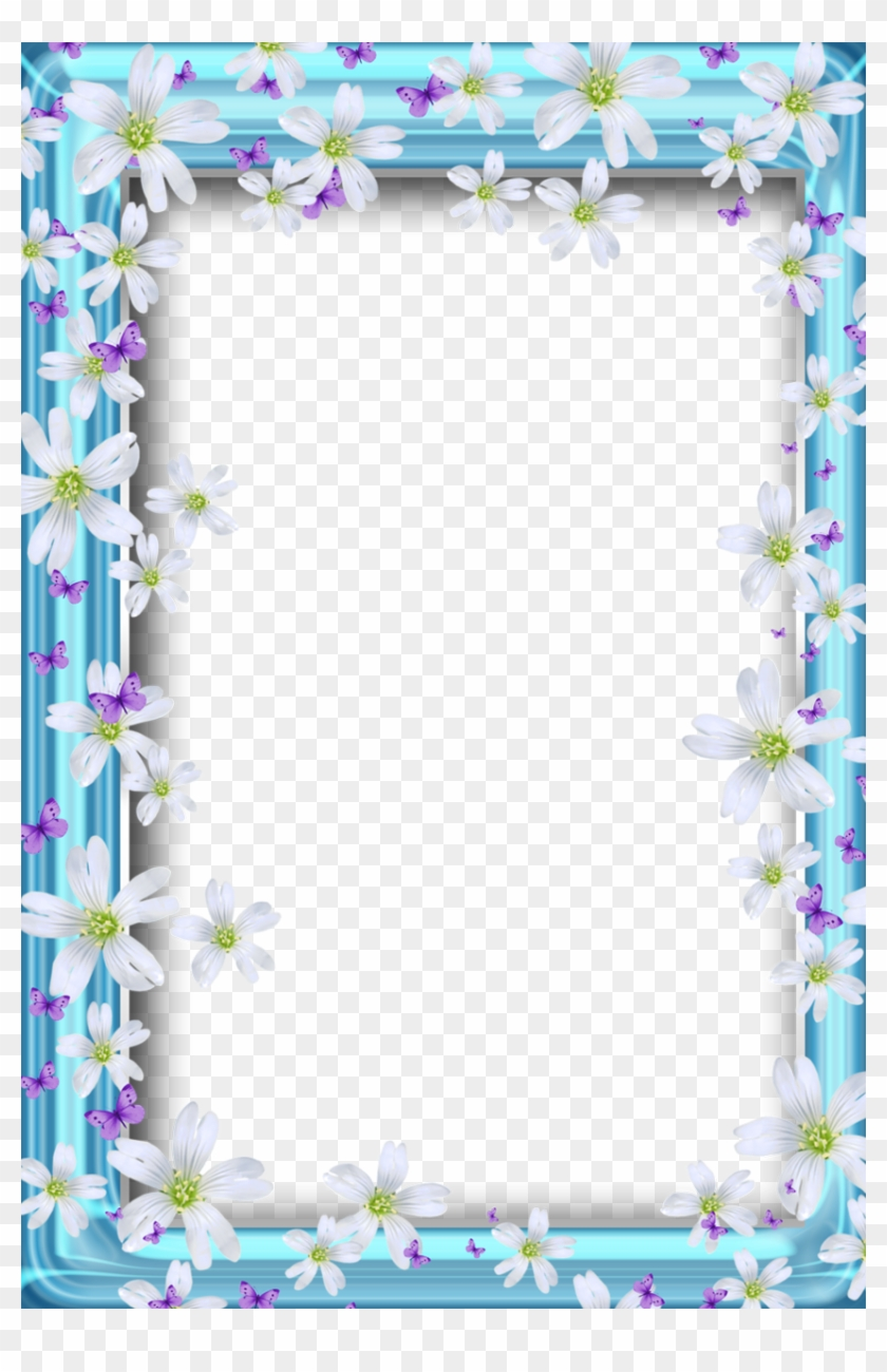 Borders For Paper, Borders And Frames, Flower Frame, - Beautiful Butterflies Borders And Frames, HD Png Download #696228