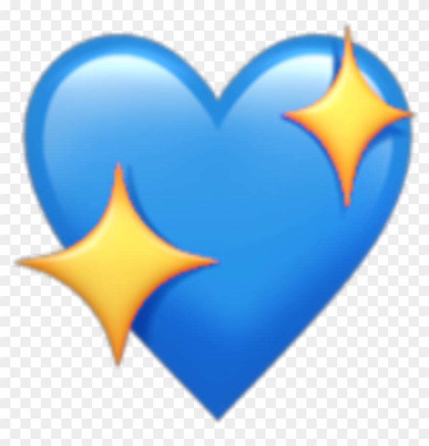 Sticker Heart Blue Star Emoji Kawaii Tumblr Png Love - Apple Heart Emoji Clipart #697045