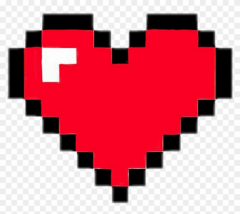 Broken Pixels: Heart Pixelart Game Retro Red Minecraft Life Pixel