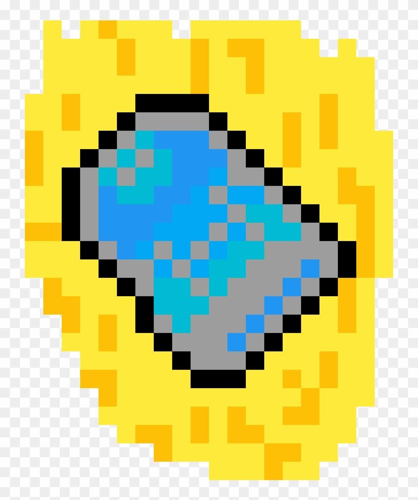 Make Heart In Minecraft , Png Download - Bt21 En Pixel Art Clipart #697878