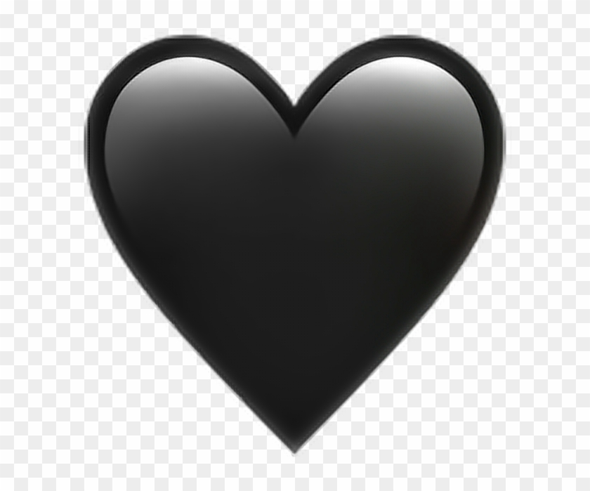Rose Emoji Black - Emoji Iphone Png Heart Clipart #698521