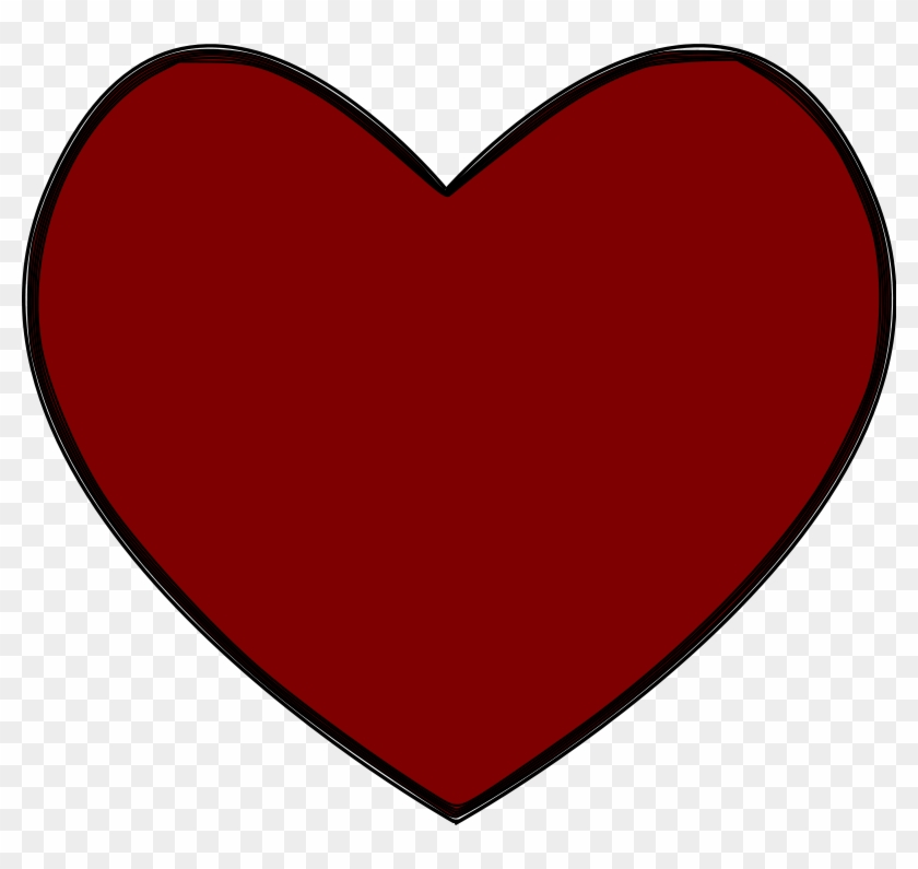 Red Heart Emoji Png - Heart Clipart Transparent Png #699374