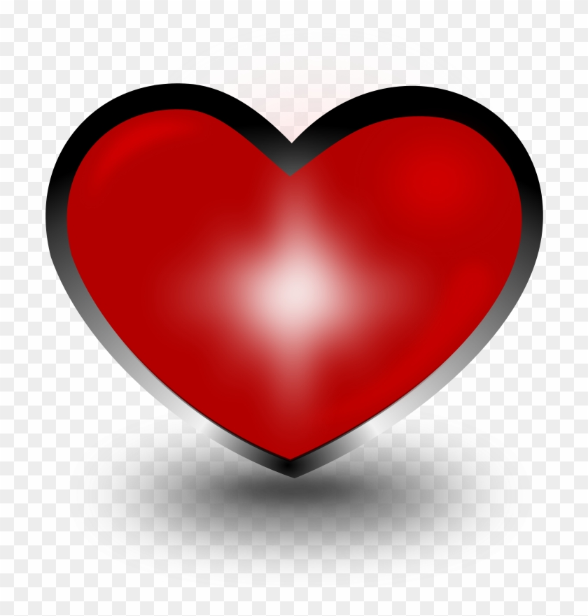 Heart Free Stock Photo Illustration Of A Red Heart - Coração 3d Png Clipart #699473