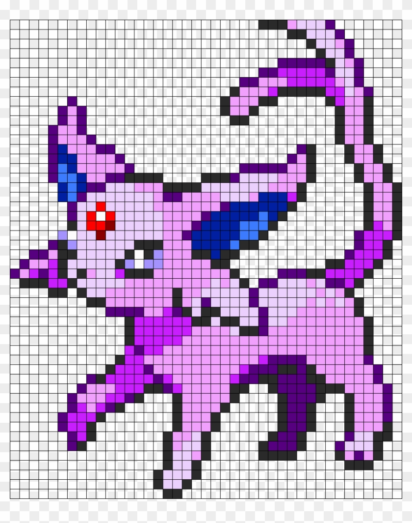 Espeon Perler Bead Pattern Bead Sprite Pokemon Pixel Art