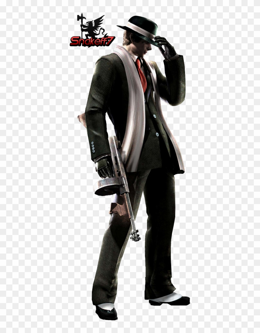 Gangster Png Hd Resident Evil 4 Leon Chicago Typewriter Clipart