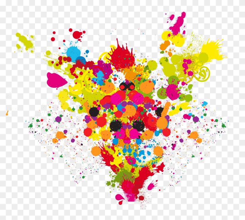 Paint Splatter, Clips, Op Art, Color Splash, Creative - Explosión De Colores Png, Transparent Png #76088