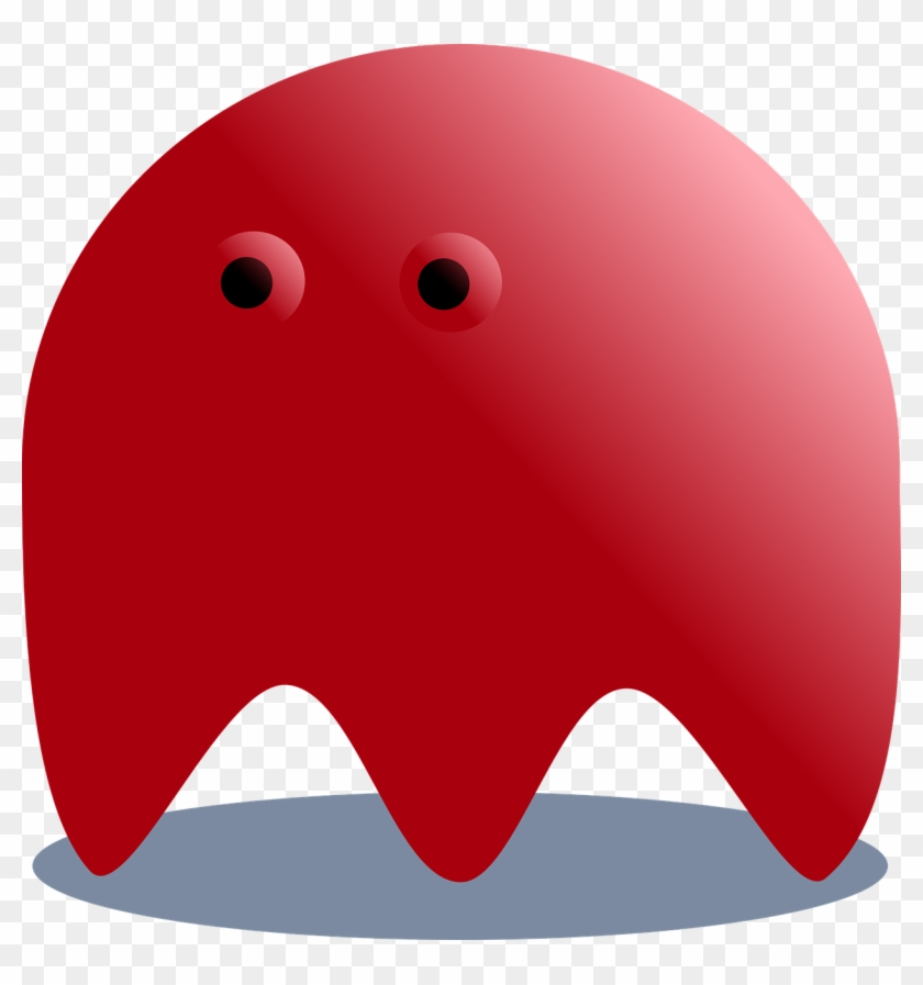 Red, Ghost, Pacman, Horror, Fantasy, Monster, Halloween - Fantasmi Pac Man Rosso Clipart@pikpng.com