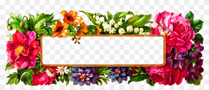 Digital Flower Frame - Flower Frame Design Png Clipart #78187