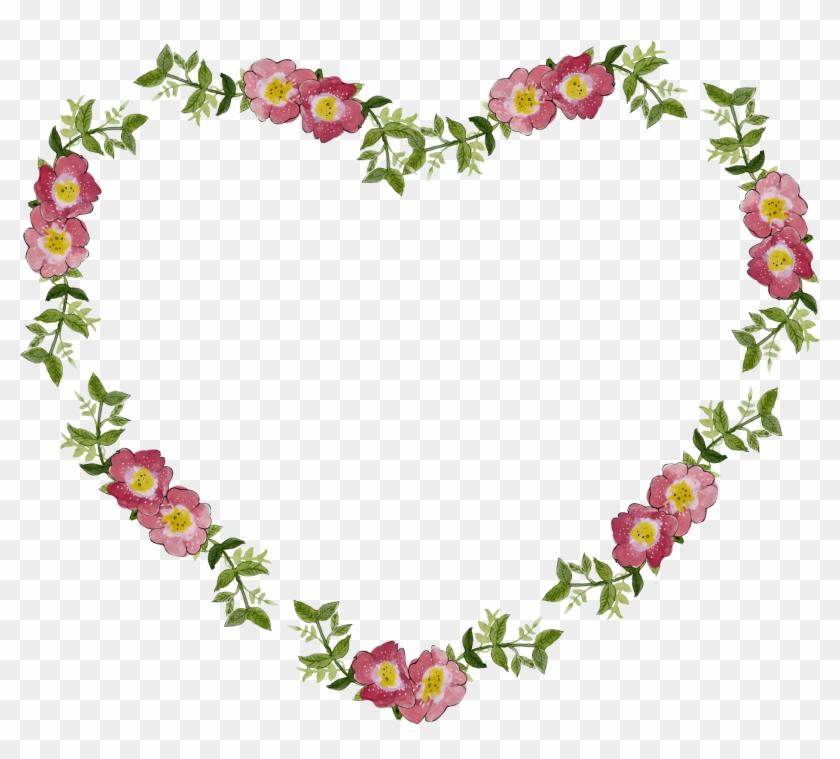 Floral Flower Frame Heart 1490236 - Love You Babu Whatsapp Dp Clipart #79112